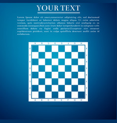 Chess board flat icon on blue background vector