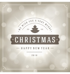 Christmas greeting card lights and snowflakes vector image