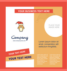 christmas penguin company brochure template vector image