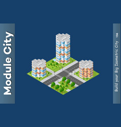 City isometric urban vector