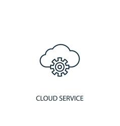 cloud service concept line icon simple element vector image