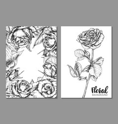 collection floral backgrounds for card vector image