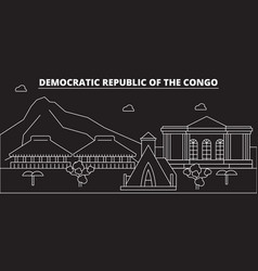 congo silhouette skyline congo city vector image