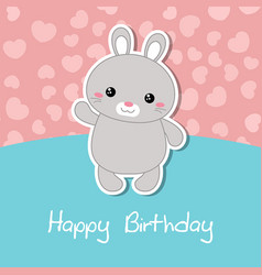 cute rabbit of cute rabbit vector image