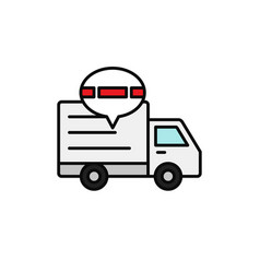 Delivery truck traffic jam icon shipment delay vector