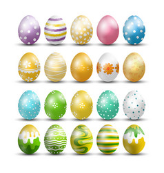 Easter eggs isolated background vector