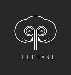 Elephant mockup logo abstract geometric silhouette vector image