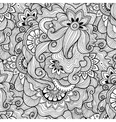 Floral background in zen-tagle style vector