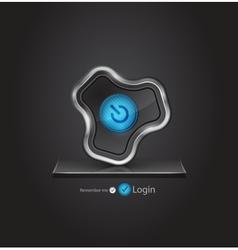 Futuristic login page vector