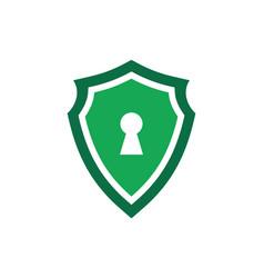 green shield guard lock logo icon vector image