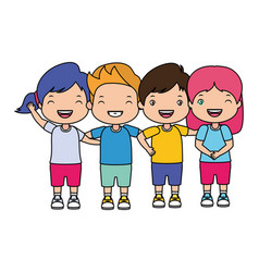 group boys and girls vector image
