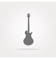 Guitar icon button isolated Web Icon Art vector image