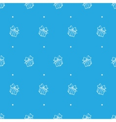 hand drawn gift box seamless pattern vector image