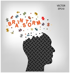 head brainstorm vector image
