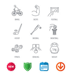 ice hockey football and basketball icons vector image