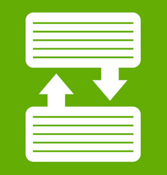 infographic blocks with arrows icon green vector image