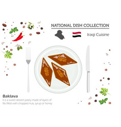 iraqi cuisine middle east national dish vector image