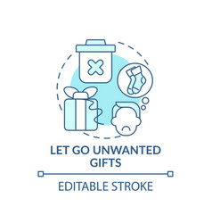 Letting go unwanted gifts concept icon vector