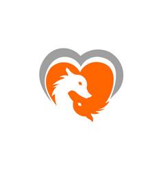 love fox logo vector image