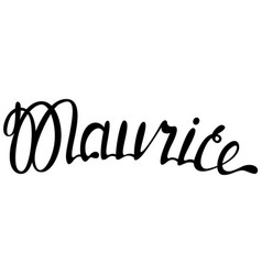 Maurice name lettering vector