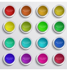 Modern colorful circle banners set on gray vector