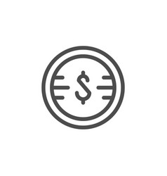 money line icon vector image