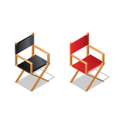 movie director chair isometric icon with shadow vector image