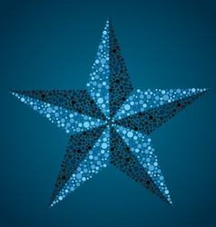 nautical star vector image
