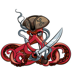 octopus pirate vector image