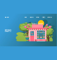 party shop website birthday gifts store vector image