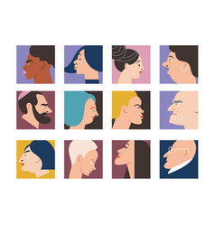 people portraits vector image