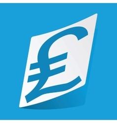 Pound sterling sticker vector