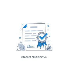 Product certification vector
