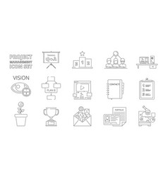 Project management symbols business planning vector