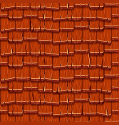 Seamless old red wood roof tiles vector