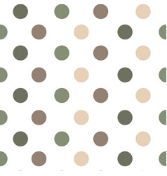 seamless pattern or texture with polka dots vector image
