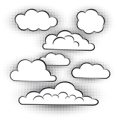 set clouds vector image