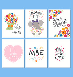 Set mothers day cards vector