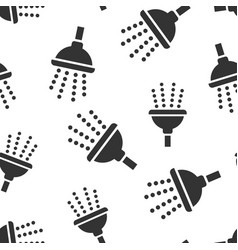 shower sign icon seamless pattern background vector image