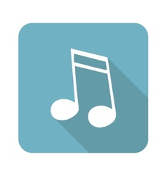 Sixteenth note icon vector