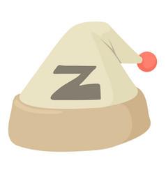sleeping hat icon cartoon style vector image