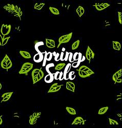 spring sale postcard vector image