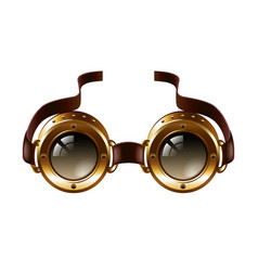Steampunk goggles isolated on white vector