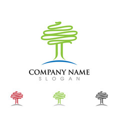Tree icon logo vector