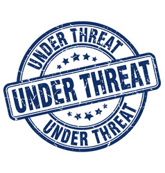 under threat vector image