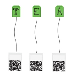 Various teabags vector image
