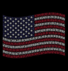 Waving american flag stylization of boat steering vector