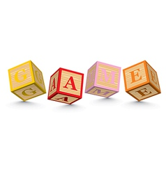 Word GAME written with alphabet blocks vector image
