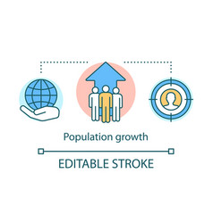 World human population growth concept icon vector