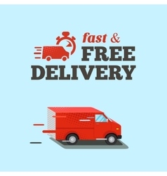 Fast delivery Typographic vector image